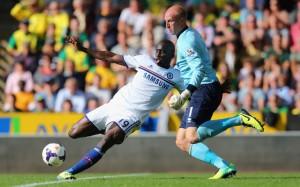 Demba Ba Chelsea John Ruddy Norwich City