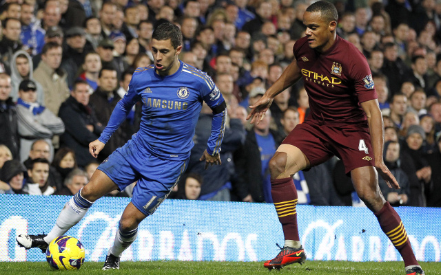 Eden Hazard Chelsea Vincent Kompany Manchester City