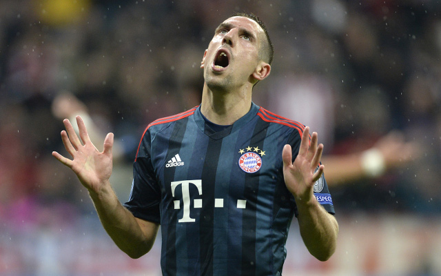 Bayern Munich lose Franck Ribery to training injury