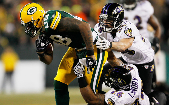 (GIF) Baltimore Ravens get first down after Packers block a punt