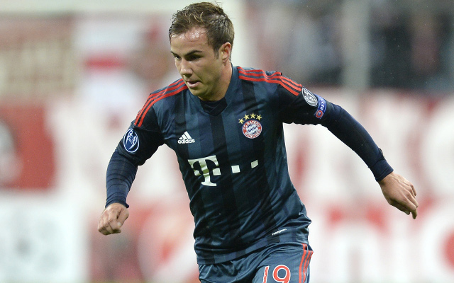 (GIF) Mario Goetze scores his first goal for Bayern Munich in 5-0 win over Viktoria Pilsen