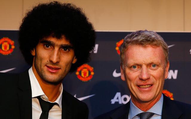 Marouane Fellaini David Moyes Manchester United