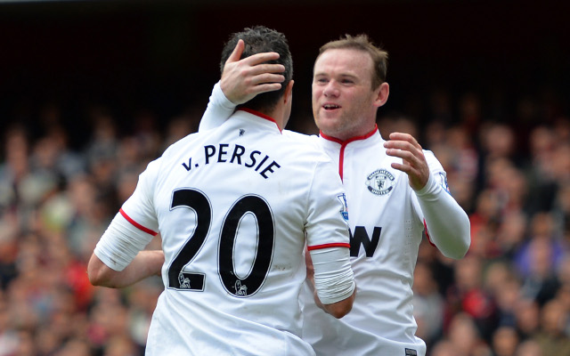 Robin Van Persie Wayne Rooney Manchester United