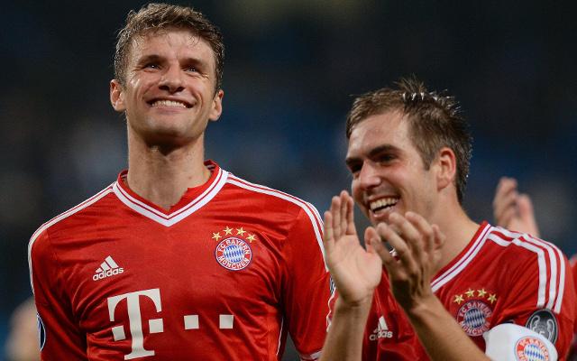 Thomas Muller Philipp Lahm Bayern Munich