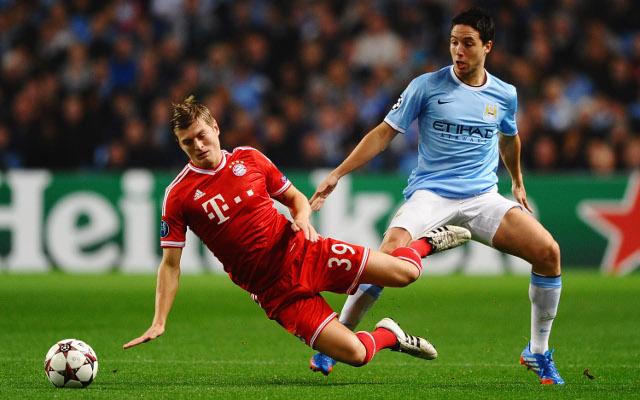 Toni Kroos Bayern Munich Samir Nasri Manchester City