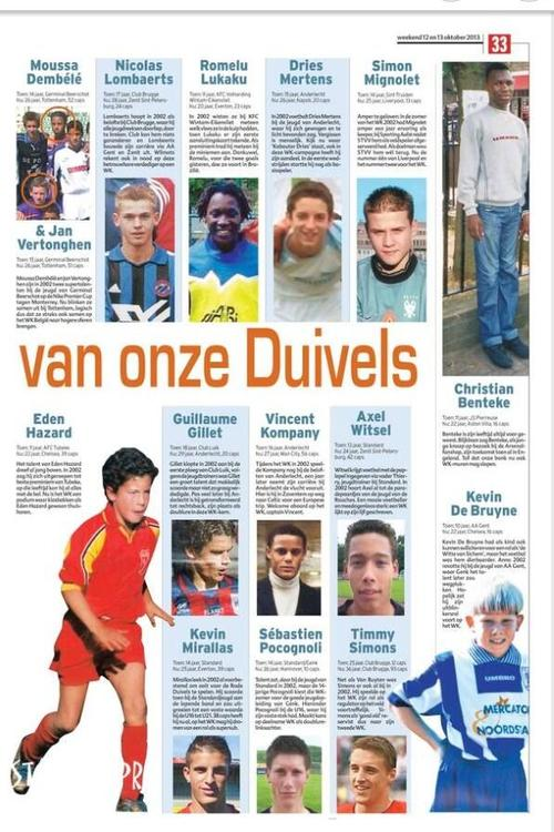 hazard De bruyne youngsters