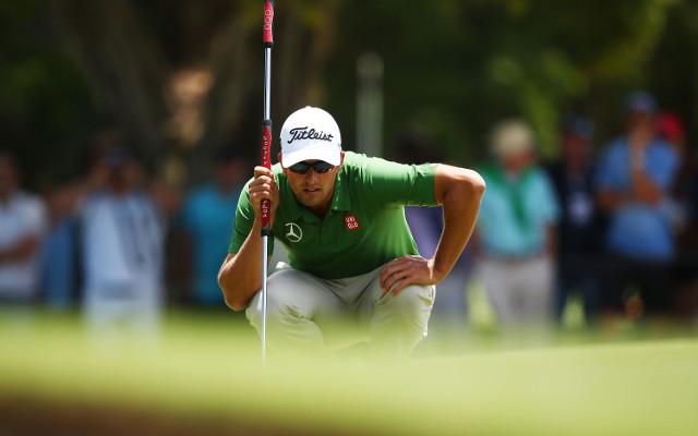 Adam Scott closes in on winning the 'Triple Crown' of Australian golf