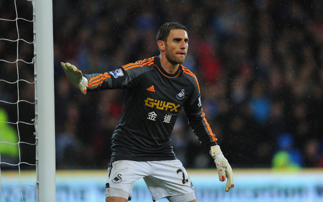 Twitter goes mad as defender Rangel forced to go in goal for Swansea against Cardiff