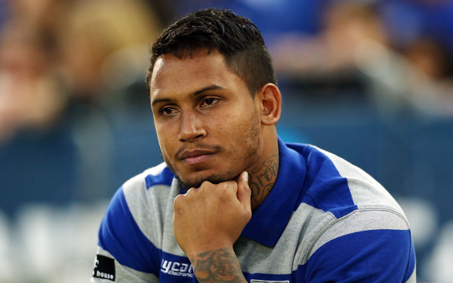 (Image) Ben Barba poses in his new Brisbane Broncos jersey