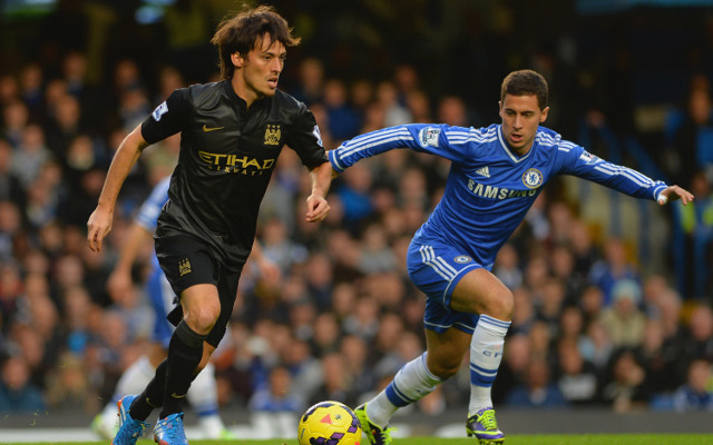 David Silva Manchester City Eden Hazard Chelsea