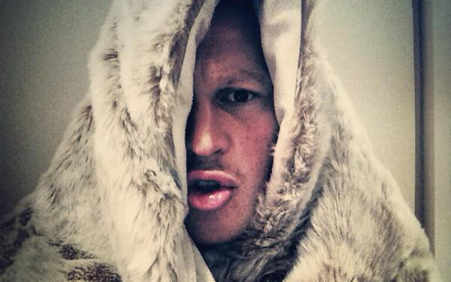 (Image) Dylan Hartley does his best Jon Snow impression