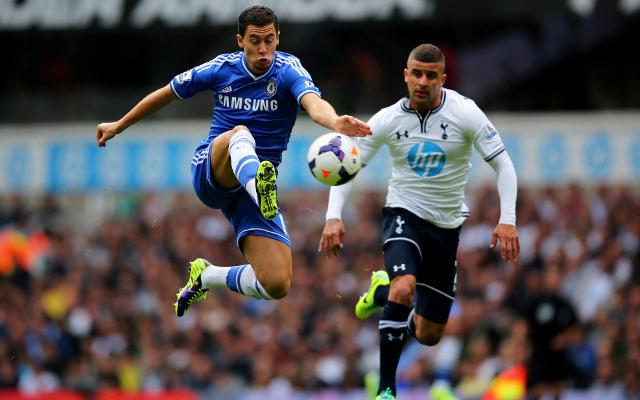 Eden Hazard Chelsea Kyle Walker Tottenham