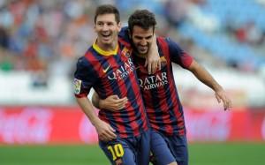 FC Barcelona Lionel Messi Cesc Fabregas