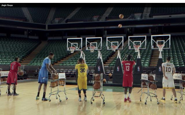 (Video) NBA stars plays 'jingle hoops' to sell Christmas jerseys