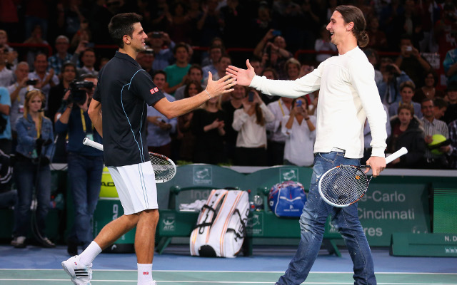 (Video) PSG superstar Ibrahimovic plays tennis with world No.2 Djokovic