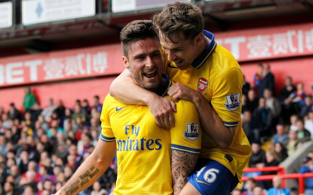 Olivier Giroud Aaron Ramsey Arsenal