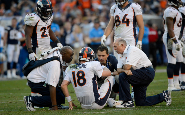 Peyton Manning injures his ankle in win over San Diego Chargers