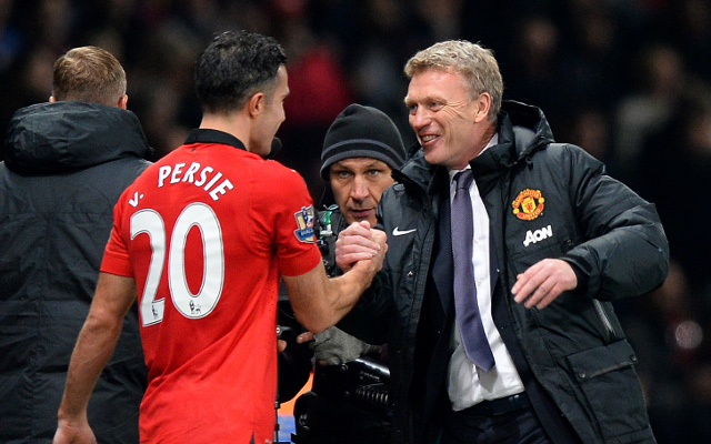 Robin Van Persie David Moyes Manchester United
