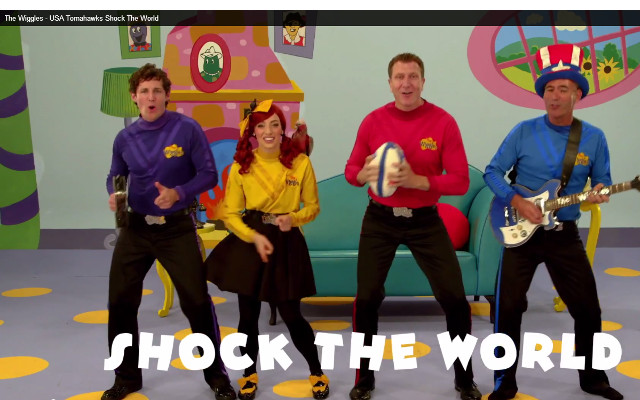 (Video) The Wiggles pay tribute to the USA Tomahawks