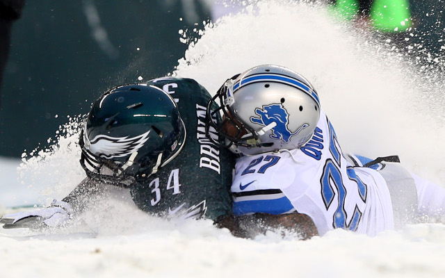 Philadelphia Eagles beat Detroit Lions in snowstorm