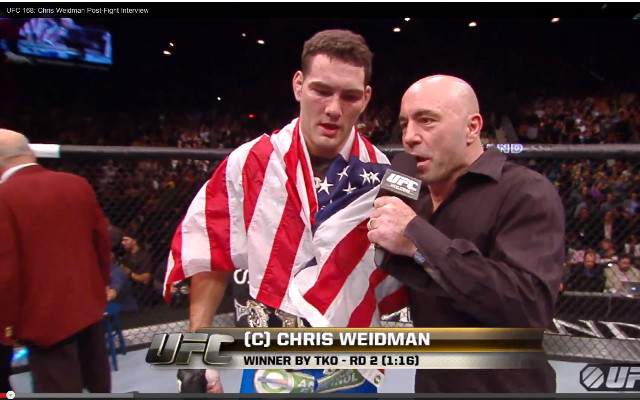 (Video) UFC 168: Chris Weidman – Full post-fight interview