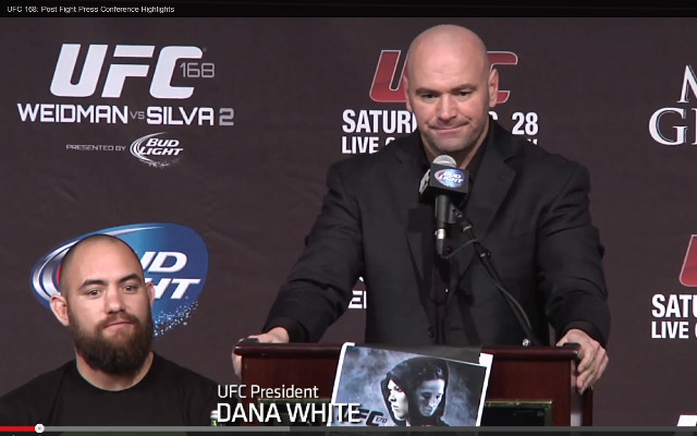 (Video) UFC 168 – Full post fight press-conference highlights