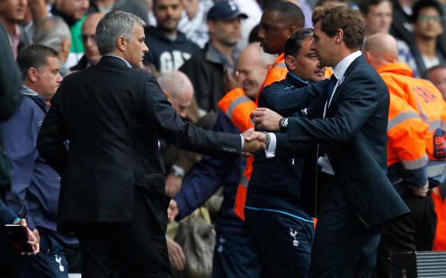 Chelsea's Mourinho rebuilds bridges with Villas-Boas after Tottenham sacking