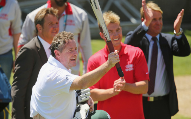 (Image) Piers Morgan reveals broken rib from Brett Lee bowling stunt