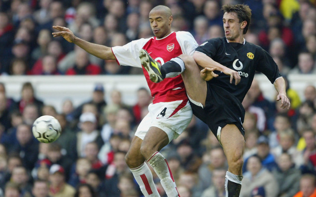 Thierry Henry Arsenal Gary Neville Manchester United