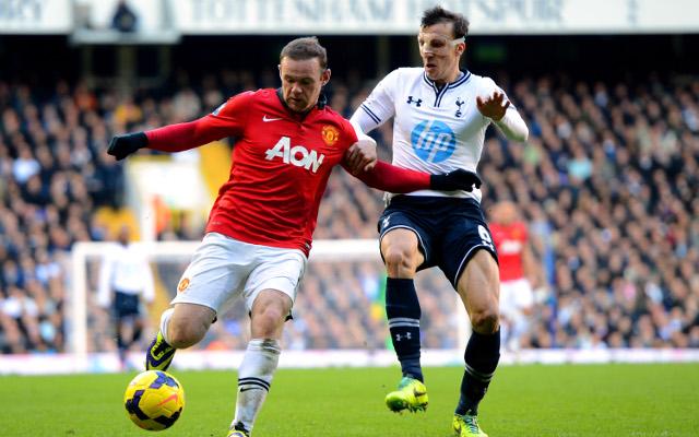 Wayne Rooney Manchester United Vlad Chiriches Tottenham