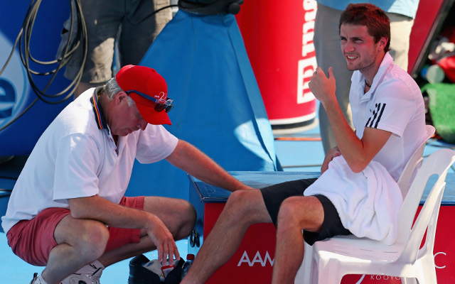 Australian Open Tennis news: Gilles Simon out after injuring his ankle
