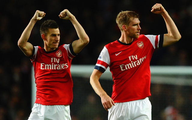 Laurent Koscielny Per Mertesacker Arsenal