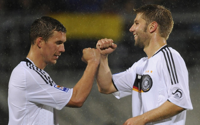 Lukas Podolski Thomas Hitzlesperger Germany