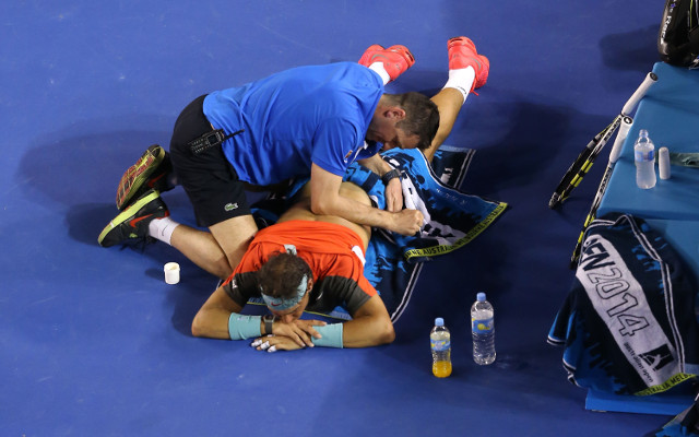 (Video) Rafael Nadal back injury: Watch the moment the world number one lost control