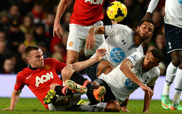 Tom Cleverley Mousa Dembele Etienne Capoue Manchester United Tottenham