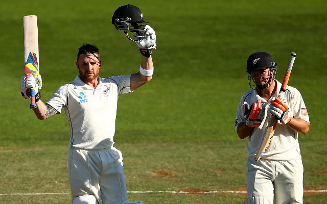 Brendon McCullum and B.J. Watling keep New Zealand alive against India