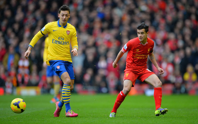 Arsenal's Ozil pipped by Liverpool's Coutinho in Premier League through-ball table