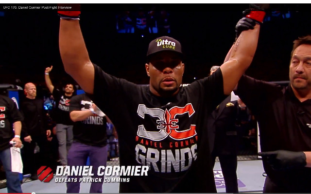 (Video) UFC 170: Daniel Cormier v Patrick Cummins – post fight interviews & highlights