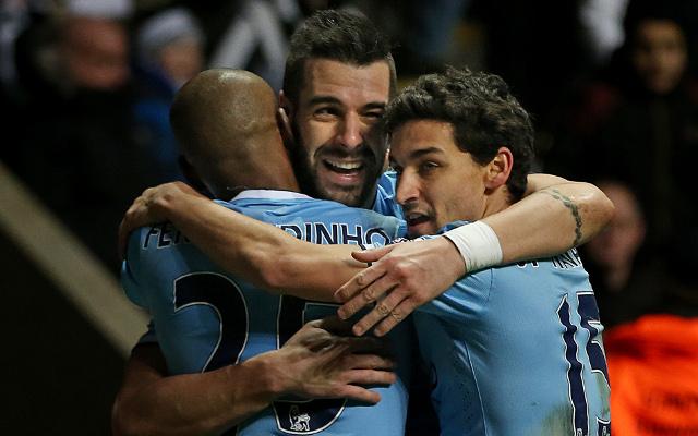 Fernandinho Alvaro Negredo Jesus Navas Manchester City