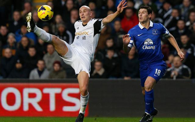 Jonjo Shelvey Swansea Gareth Barry Everton