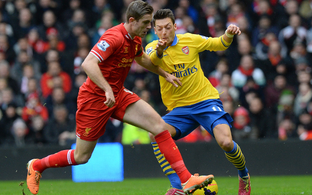Jordan Henderson Liverpool Mesut Ozil Arsenal