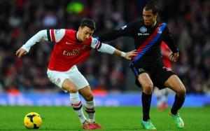 Mesut Ozil Arsenal Marouane Chamakh Crystal Palace
