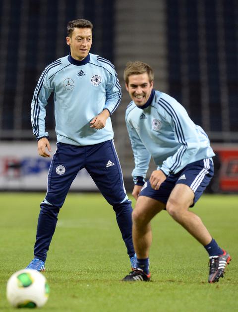 Mesut Ozil Philip Lahm Germany