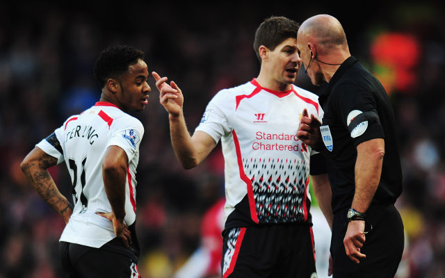 Raheem Sterling Steven Gerrard Liverpool Howard Webb
