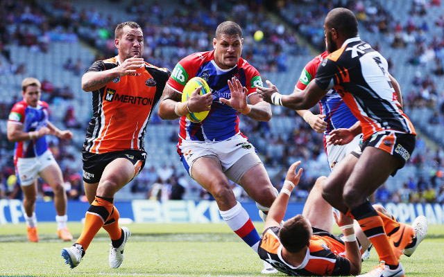 (Video) 2014 NRL Auckland Nines: Newcastle Knights v Wests Tigers – full highlights