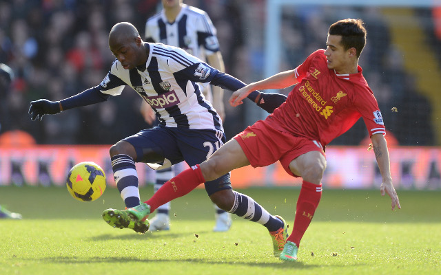 Youssuf Mulumby Coutinho West Brom Liverpool