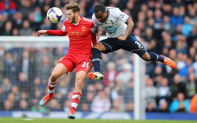 Adam Lallana Southampton Danny Rose Tottenham