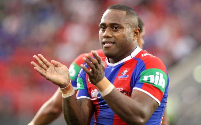 (Video) Try! Akuila Uate gives Newcastle Knights a chance