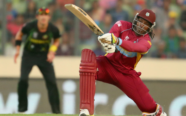 (Video) MASSIVE SHOT! West Indies star Chris Gayle smashes 93 METRE six in World Cup clash with Zimbabwe