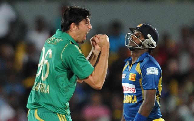 David Wiese South Africa Angelo Mathews Sri Lanka